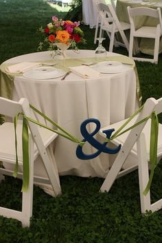love this for the bride and groom table at a reception