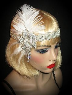 GATSBY ORCHID GLAM  Stunning Flapper Headband by AllThatJazzDesign, $58.00