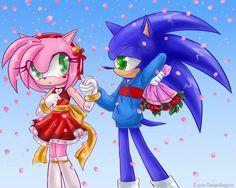 Amy : adiós sonic.  Sonic : Amy espera ... te amo