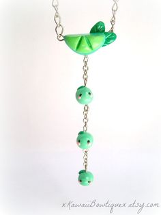 Kawaii Lime necklace  polymer clay