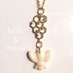 Milk and honey breast milk jewelry. Clever and pretty!