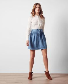 Jupe fluide en denim tencel Indigo Chimene Jean Skirt, Denim Skirt, Indigo, Jeans, Skirts, Fashion, Flowy Skirt, Micro Skirt, Fashion Ideas