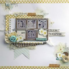 4 photos + frames + layers----would be cute w/ instagram photos