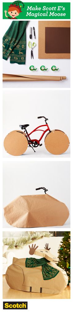 Don't just wrap to cover - wrap to delight! Here's a gift wrapping idea for an odd shaped gift which could carry over to more than just a bike. Click to see more detail or get further wrapping inspiration!