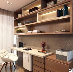 23 Trendy Home Office Design Ideas Awesome Home Office Space, Home Office Decor, Home Decor, Small Office, Office Interior Design, Office Interiors, Interior Sketch, Office Designs, Interior Styling