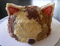 猫のバースデーケーキ