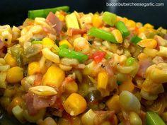 Bacon, Butter, Cheese & Garlic: Maque Choux (Stewed Corn)