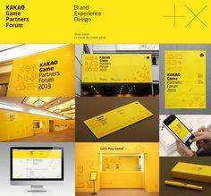 KAKAO Game Partners Forum Brand eXperience Design by Plus X , via Behance