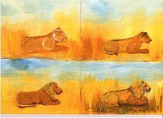 Malanleitung Löwe von Pinselstrich  auf DaWanda.com