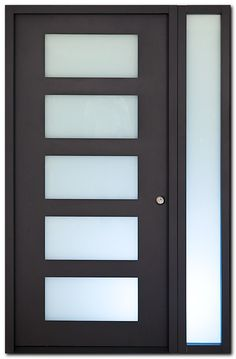 Interior doors and exterior doors, contemporary wood doors, modern entry doors by MilanoDoors. Could I add Glass to my old panel doors? Modern Entry Door, Modern Exterior Doors, Contemporary Front Doors, Interior Barn Doors, Entry Doors, Wood Doors, Front Entry, Frosted Glass Door, Glass Front Door