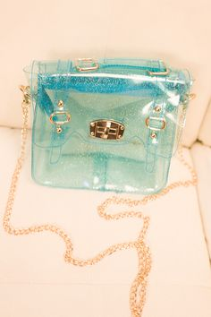 glitter jelly transparent purse (5 colors)