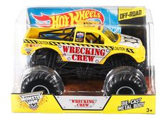 Amazon.com: Hot Wheels Monster Jam Wrecking Crew Die-Cast Vehicle, 1:24 Scale: Toys & Games