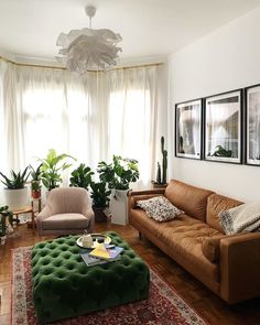 Browse our wide selection of Mid Century Modern furniture to bring effortless style to your home with beautiful modern ottomans & decor. Home Living Room, Apartment Living, Living Room Designs, Living Room Decor, Bedroom Decor, Krusning Ikea, Living Room Inspiration, My New Room, Home Interior Design