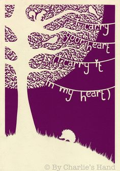 'Poetree' A4 Giclee Print Purple-Pinks £15.00 by Charlie's Hand