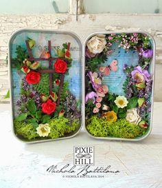 """""""The Secret Garden"""" altoid tin miniature - Nichola Battilana.  OOOOH, so pretty!!"""