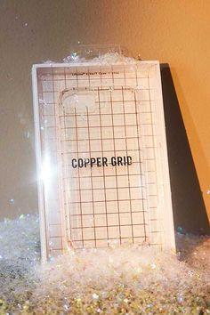 """Hülle """"Grid"""" für iPhone 6/7/8 in Kupfer"""