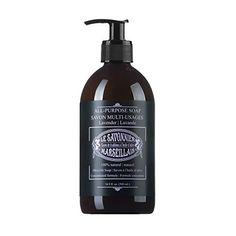 LSM Soaps Le Savonnier Marseillais All-Purpose Liquid Counter Top Soap, Lavender, 16.9 Fluid Ounce
