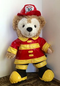 Disney Parks Fireman Fire Fighter Duffy Bear Mickey Mouse