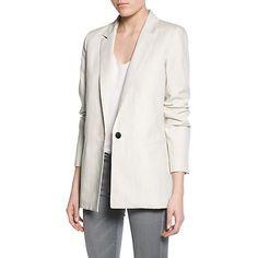 Buy Mango Linen Cotton-Blend Blazer, Light Beige from our Women's Coats & Jackets range at John Lewis & Partners. Blazer Outfits For Women, Blazers For Women, Work Outfits, Beige Blazer Outfit, Best Blazer, Cotton Blazer, Light Beige, Pretty Outfits, Work Wear
