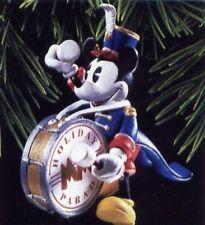 Hallmark 1997 Bandleader Mickey Mouse Disney Ornament Drummer 1st