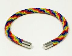 Kumihimo Fiber Cuff, Cuff Bracelet, Kumihimo Cuff Bangle, Rainbow Boho Bracelet, Stack Bracelet, Cuff Jewelry, Kumihimo Cuff, Unisex $9.99
