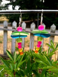 Dragonfly Sea Glass Earrings by SmithNJewels on Etsy