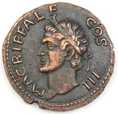 Roman Æ As of Agrippa (Caligula in the name of Agrippa) The One Show, Trident, Really Cool Stuff, Roman, Coins, Museum, Bronze, Names, Personalized Items