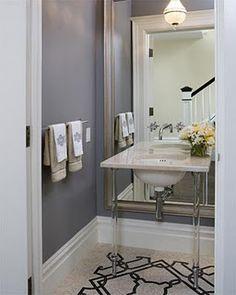 Waterworks vanity layered over full length mirror!