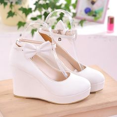 I'm selling Women's Shoes Synthetic Leather Platform Wedge High Heel Ladies' Ankle Strap - £27.99 #onselz