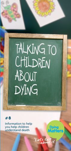 Series of leaflets from DyingMatters.org, including a resource leaflet on talking to children about dying.