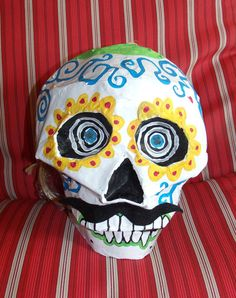 Another sugar skull pinata.