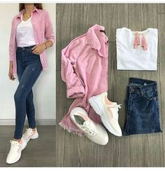 Outfit and style smart ideas for hiking this summer. Club Outfits For Women, Mode Outfits, Outfits For Teens, Trendy Outfits, Clothes For Women, Fall Fashion Outfits, Look Fashion, Fashion Ideas, Terno Casual