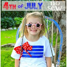 No Sew DIY 4th of July T-shirt MichaelsMakers by @designdazzle