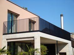 Balkon Geländer Schwarz