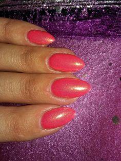 #Nail art #hybryd #nail #mermaid effect #semilac #tutti frutti #spring #spring nail