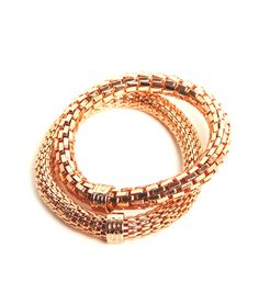 Silis - The Snake Metal Pink Gold - Luxedy - 1