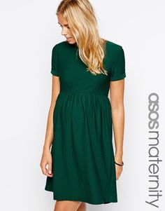 ASOS Maternity Exclusive Skater Dress in Texture