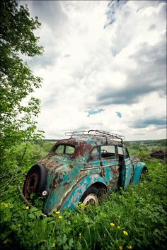 Forgotten car slipping into #Nature. #RustinPeace #Beauty