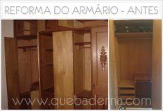 Faça você mesmo: Reforma de armário antigo - marcenaria e pintura completa!