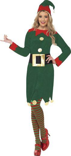 9b3fa027c6f3 Déguisement elfe femme Noël : Deguise-toi, achat de Déguisements adultes  Tissu Rouge,