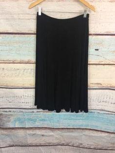 15.87$  Buy now - http://vijbt.justgood.pw/vig/item.php?t=5wfz0sk54989 - Chico's Travelers A line Black Skirt Sz 1