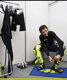 Valentino Rossi getting ready for the first race after the summer break at Indianapolis 2014