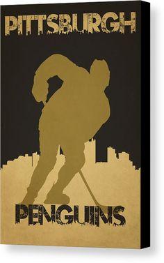 Penguins Canvas Print featuring the photograph Pittsburgh Penguin by Joe Hamilton