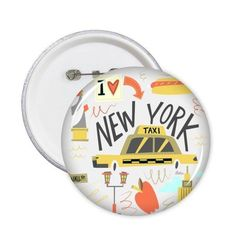 5 New York Taxi Pattern Badge London Souvenirs, New York Taxi, Badge, Plates, Tableware, Pattern, Licence Plates, Dishes, Dinnerware