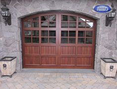 Infinity Classic Model I116C VG WG Dark Walnut PC Finish Garage Door