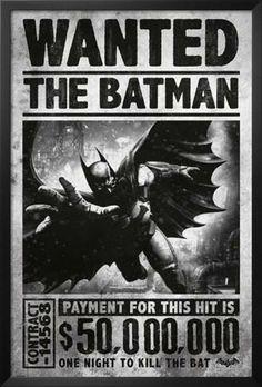 Batman Arkham Origins - Wanted. Framed Poster from AllPosters.com, $84.99