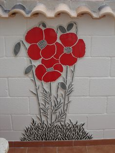 Mosaic of poppies