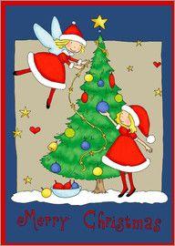 Fluffy Feelings - fairies decorating christmas tree