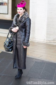 A winter coat in New York | 40plusstyle.com