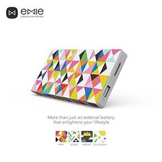 EMIE Memo *Just Shake it!* 10000mAh Ultra-thin 12mm for Mobile Devices (Pop Art) #Emie #Powerbank